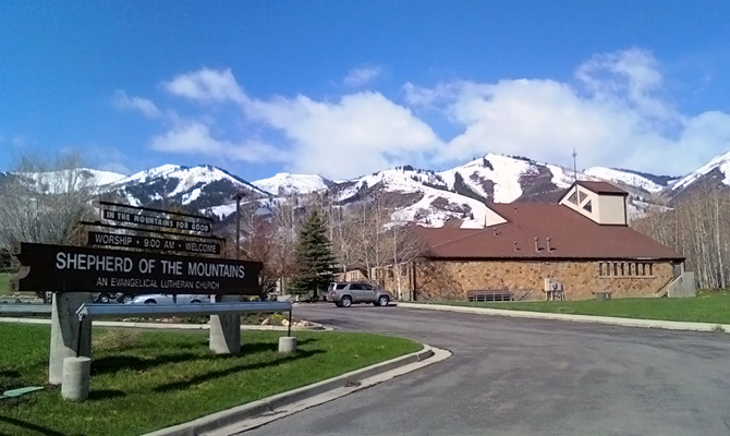Shepherd of the Mountains church from the East facing the Wasatch Range